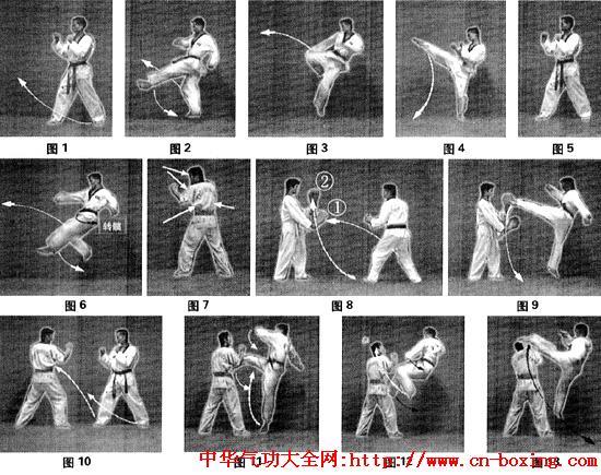 跆拳道经典技法——双飞踢训练与应用