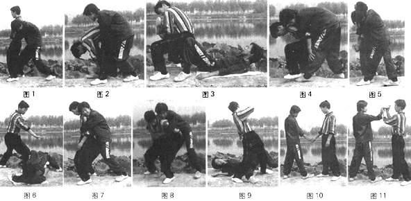 洪洞通背拳三十六跌摔技法(六)----薛盛才、薛印全