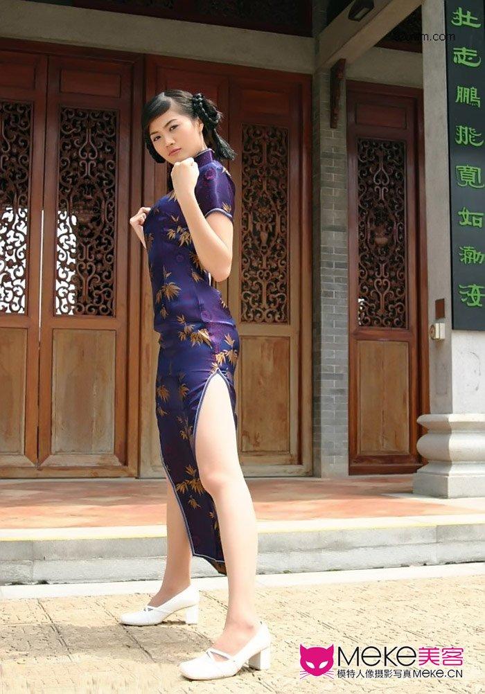 穿旗袍的功夫美女