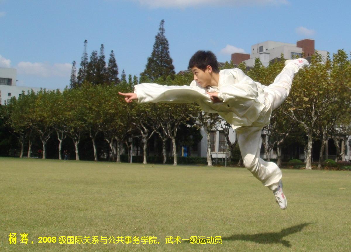 杨骞 2008级国际关系与公共事务学院武术一级运动员