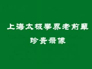 上海太极拳界老太极拳家表演 珍贵