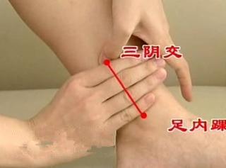 中医穴位按摩帮女人保养卵巢